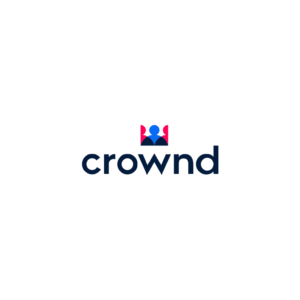 Name and logo for bitcoin app, reenforcing the idea of giving power/control to the people. Name combines the words 'crown' and 'crowd' = royalty & people.